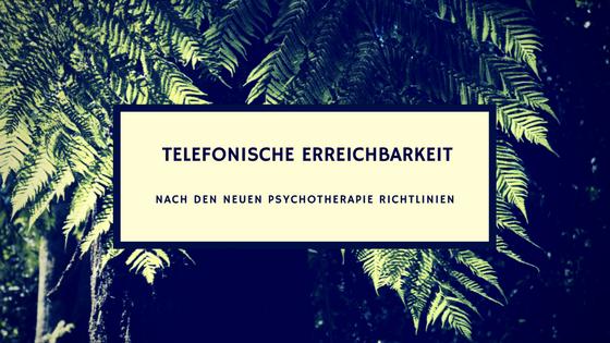 Psychotherapie Richtlinien